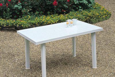 Аренда (прокат) пластикового белого стола прямоугольного 125*75 см по 80 грн/сутки